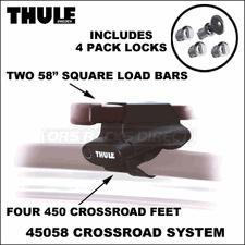 Thule Racks for SideRails - 2013 Thule 45058 CrossRoad Complete Car Rack & Includes Locks