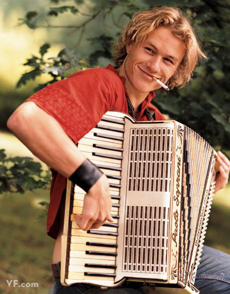 Only real men smoke and play the accordion at the same time.