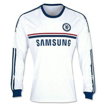 hot sale 2013 14 chelsea away white short sleeved football jerseys thailand quality 29