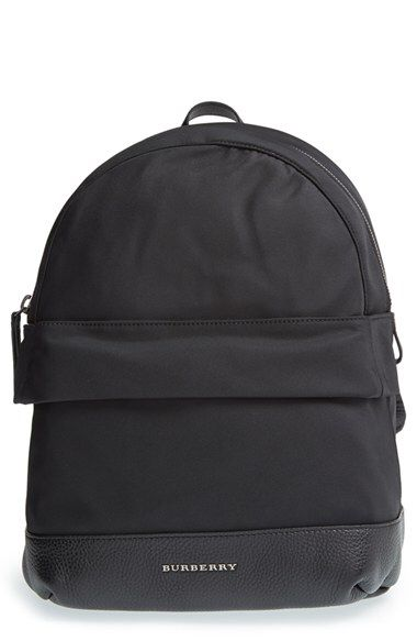 Burberry Burberry 'Tiller' Nylon & Leather Backpack (Kids) available ...