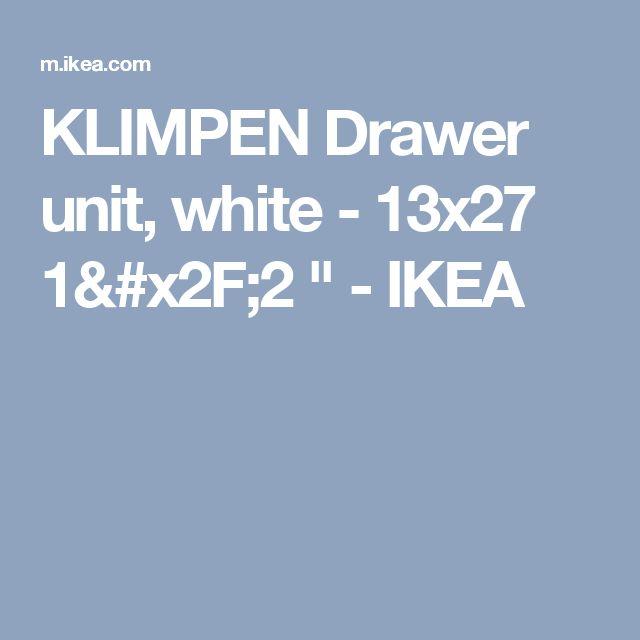 "KLIMPEN Drawer unit, white - 13x27 1/2 "" - IKEA"