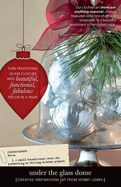 Turn traditional glass cloches into beautiful functional, fabulous decor in a snap!