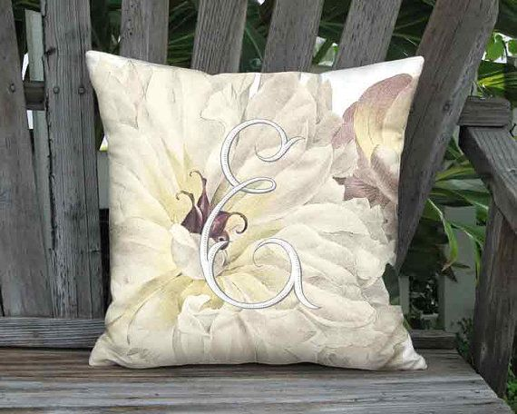 Small Pillow Personalized Pillow Cover Peony by artanlei on Etsy