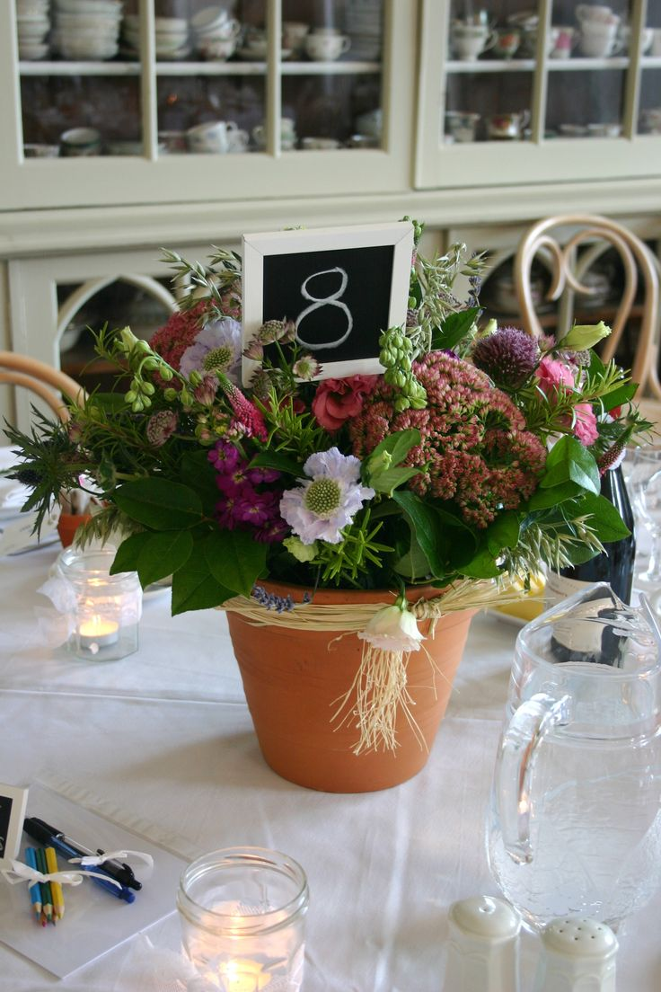 Best images about table wedding decor with pots on