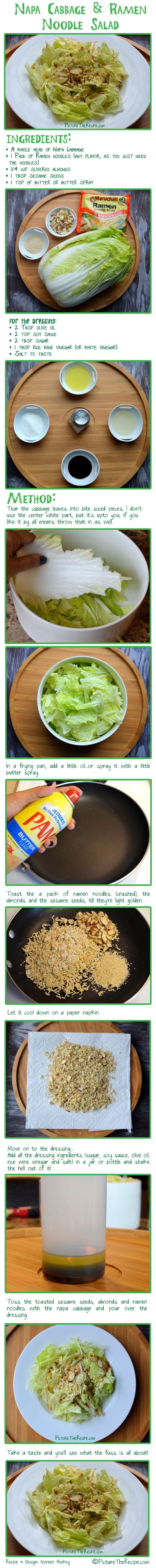 Napa Cabbage and Ramen noodle salad