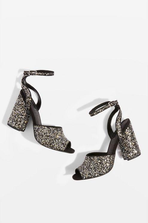 37d4c597442 ROCKY Glitter Block Heel Sandals