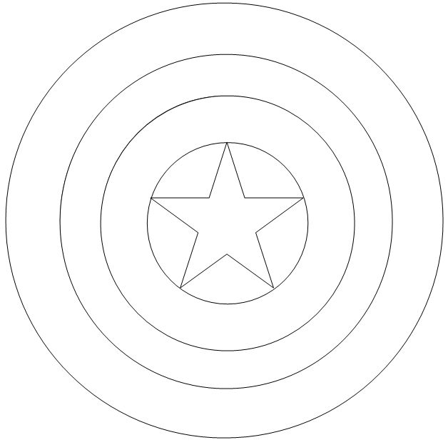 Captain America Shield Coloring Page Captain americ
