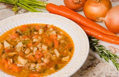 I love making this soup throughout the fall and winter. It's filling, healthy and stores well. Perfect with a grilled cheese sandwich on whole wheat bread. via @SparkPeople