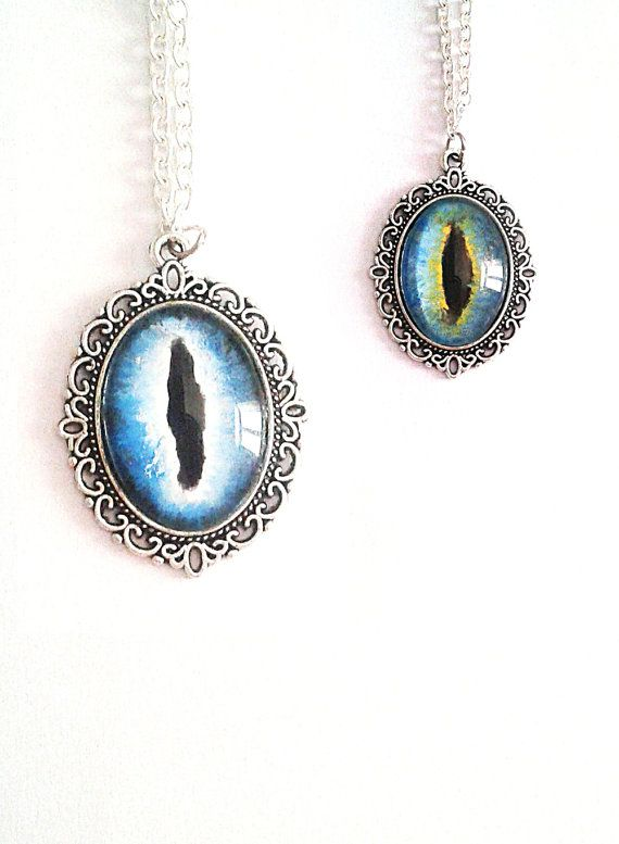 Jewelry  Necklaces  Cameo Necklaces  dragon eye  dragon necklace  dragon jewelry  magicians and magic magicians cosplay  fantasy cosplay  fantastic creatur  fantasy necklace  glass necklace  blue cat eye  blue dragon eye blue dragon  blue necklace