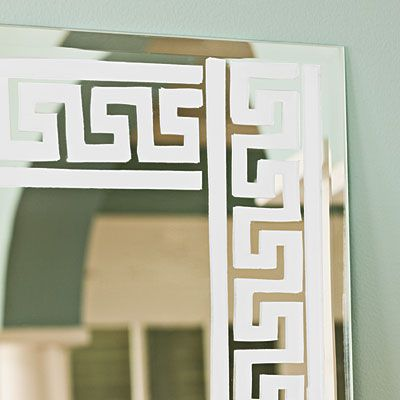 Do-It-Yourself Etched Wall Mirror: Priceless Look
