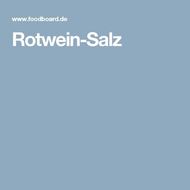 Rotwein-Salz