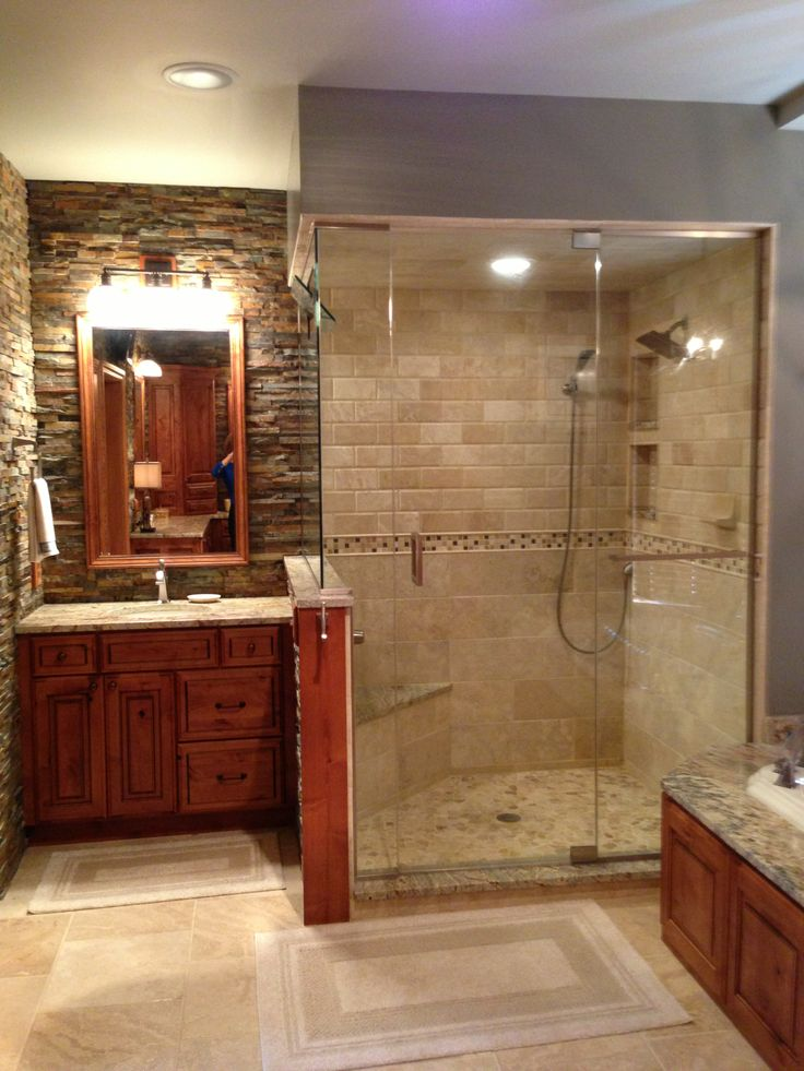 64 best images about our bath projects on pinterest wood for Master bathroom rustic