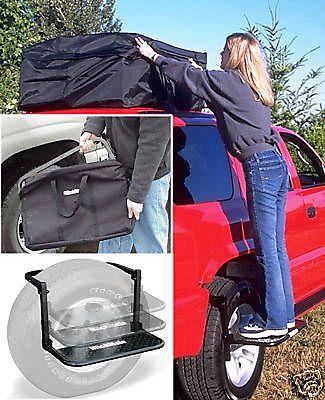 Foldable-Tire-Step-for-SUV-or-RV-w-FREE-Storage-Bag-REFURB