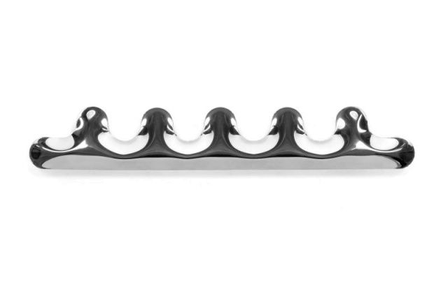 KAMM wall hanger - 5 hooks - Zieta  Coat hanger avaiable in 3 different sizes, welded and blown with highest precission, to achieve unique shape and bulges.
