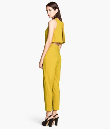 Sleeveless yellow jumpsuit  from H&M.