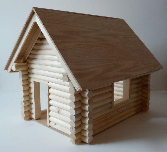 miniature log cabin kit by noblecabinworks on etsy