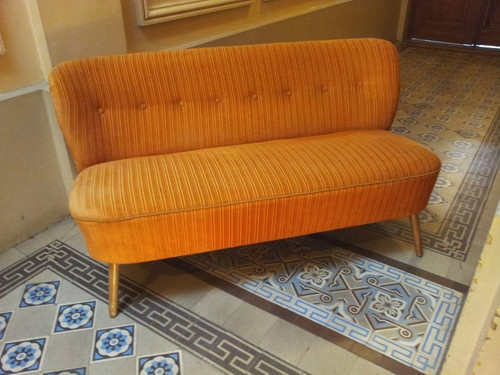 Canap divan sofa banquette ann e 50 60 scandinave 1950 for Canape annee 60