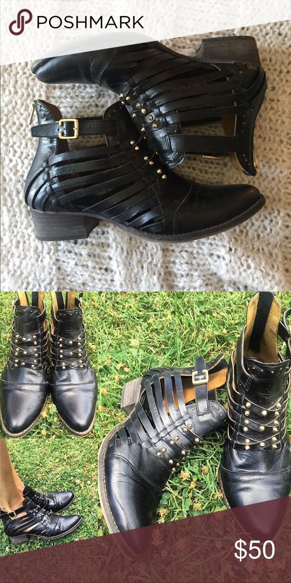 Ascot Friday for Matisse Waylon bootie Super stylish black bootie with gold stud details. Only worn a few times. Shoes Ankle Boots & Booties