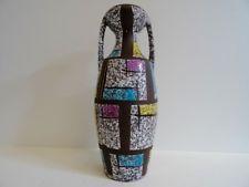 Bay-Keramik Bodo Mans Vase Dekor Paris Keramikvase 60er 70er selten