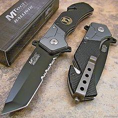 MTECH POW-MIA Tactical Tanto Spring Assisted Opening Rescue Folding Pocket Knife   Objetos de colección, Cuchillos, espadas y cuchillas, Cuchillos plegables de colección   eBay!