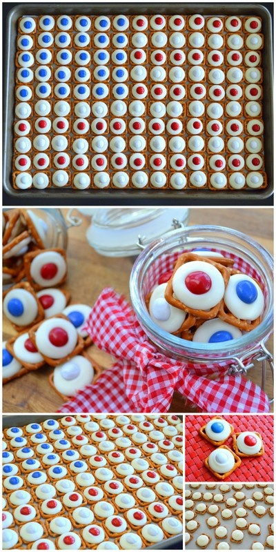 Stars & Stripes Candy Tray for Memorial Day or 4th of July