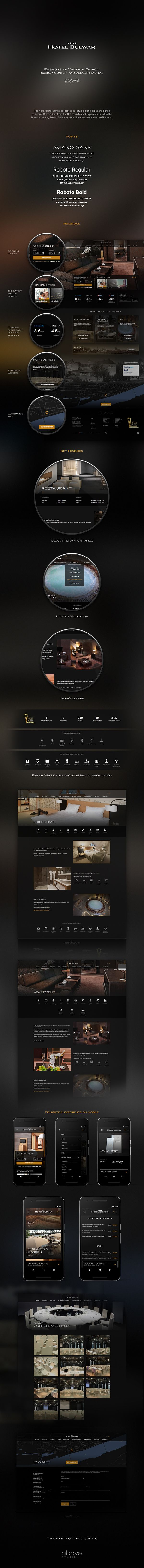 Hotel Bulwar**** - responsive website design. Check it out on my behance portfolio https://www.behance.net/gallery/36389323/Hotel-Bulwar-responsive-website-design