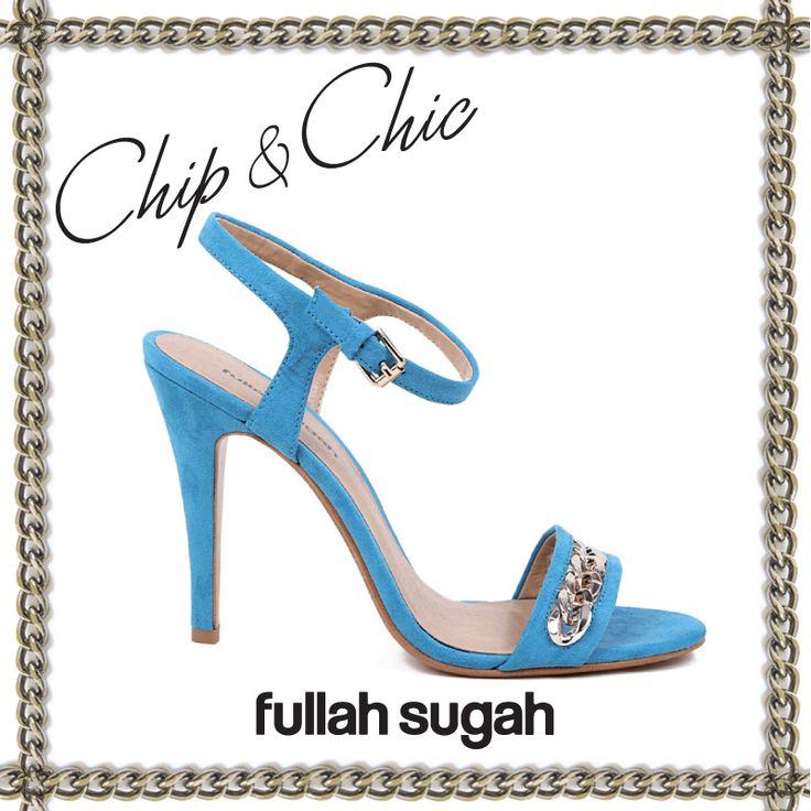 FULLAHSUGAH  Πέδιλο τύπου σουέντ με αλυσίδα   1445100830  #fashion #shoes #trends #fullah_sugah #style