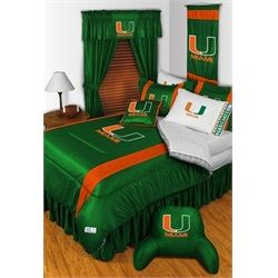 University of Miami Hurricanes Canes Bed In A Bag Set
