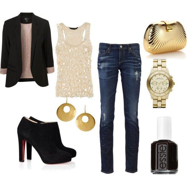 Girls Night Out! Love the blazer