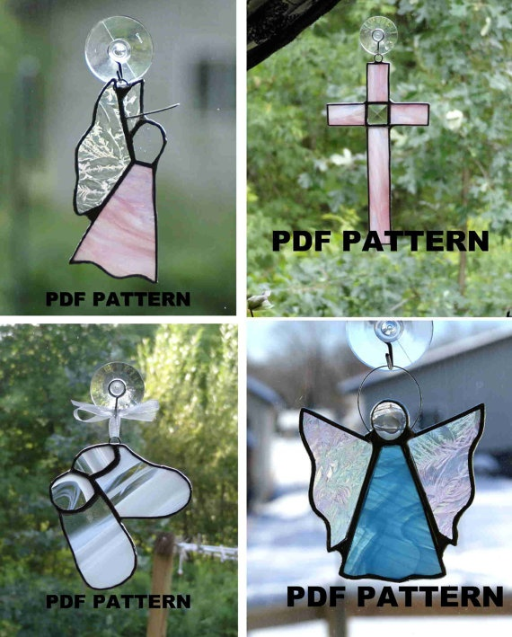 Four Stained Glass PATTERNS PDF By FiltzGlassStudio On Etsy 1000
