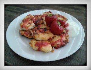 Russian breakfast syrniki pancakes