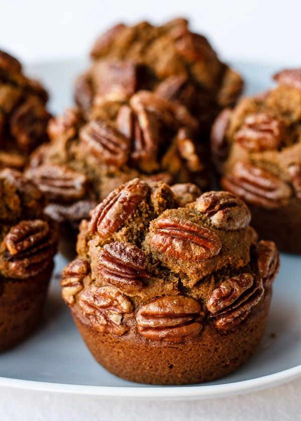 Super Nummy's Candied Pecan Sweet Potato Teff Muffins (dairy-free & gluten-free) -- maybe try substituting the teff flour with brown rice flour or coconut flour? Can sub some of the roasted sweet potato with 1 ripe banana.