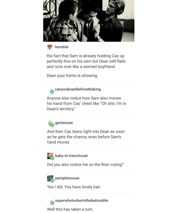 supernatural tumblr textpost destiel cockles dean winchester castiel cas misha collins gifset jensen ackles jared padalecki mark sheppard sam winchester team free will crowley mary winchester