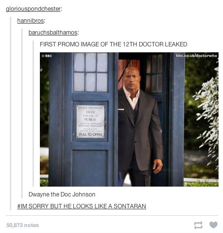 "When they found Dwayne Johnson's new role. | 21 Tumblr Posts That Prove ""Doctor…"
