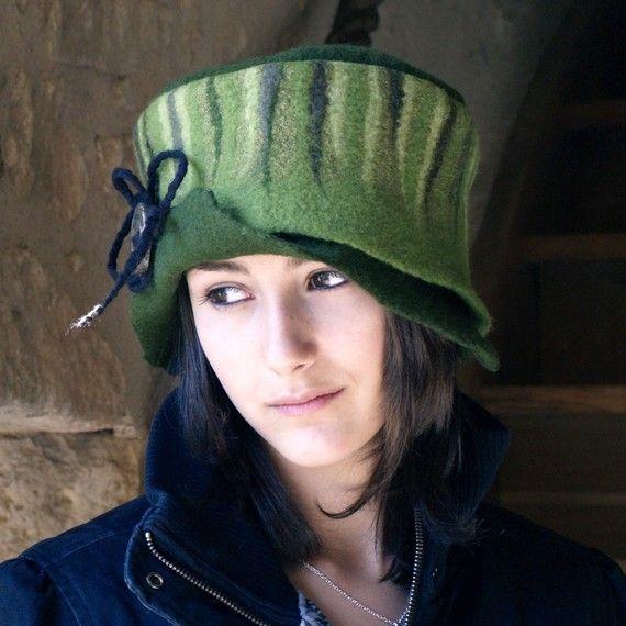 felt  hat nuno felted  joe by jannio on Etsy, $85.00