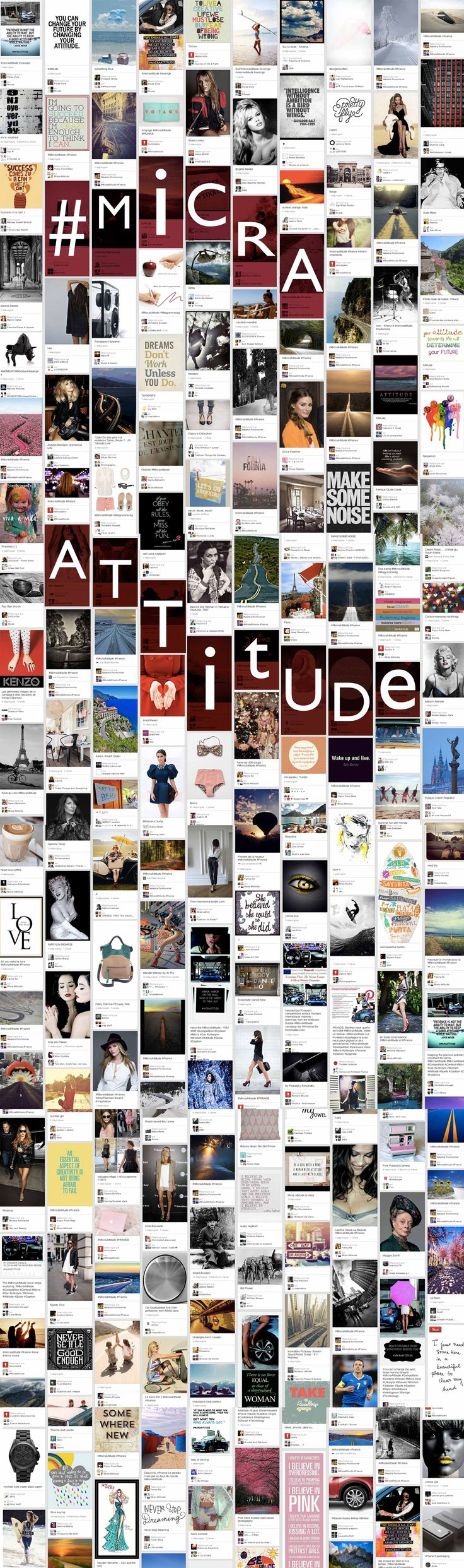 It's impossible to pick a favorite pin from the #MicraAttitude competition so we put them all together in this collage. Check back tomorrow at 9am to see the attitude in action with three #MicraAttitude videos for you to watch.