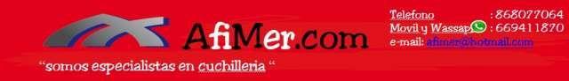 . afimer.com  Cuchilleria Afimer te ofrece venta de cuchillos, tijeras, chairas, etc. . . de las primeras marcas : Arcos, 3 Claveles, Victorinox. Cuchillos deportivos, navajas, etc. . . made in Albacete de Cudeman, Joker. . .      � te estamos esperando