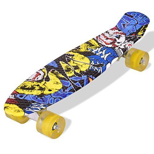 Whether it is going to check the surf, or skateboarding to class, the cruiser skateboard will get you where you want, in style. The skateboard with smooth wheels for a smooth ride is super lightweight, easy to store and travel with. Coming with fully assembled for children and adults, the... more details available at https://perfect-gifts.bestselleroutlets.com/gifts-for-holidays/toys-games/product-review-for-durable-patterned-outdoor-cruiser-skateboard-with-yellow-wheels-grea