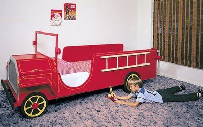 What little fireman wouldn't want a fire truck bed for his bedroom? I've included 4 various fire truck beds – one is a do-it-yourself project and the other 3 are finished beds with simple assembly. This bed is a toddler size bed available for purchase and ready in time for Christmas. Click here for more ...continue reading