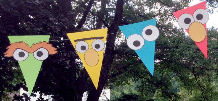 DIY Sesame Street Pennant Banner