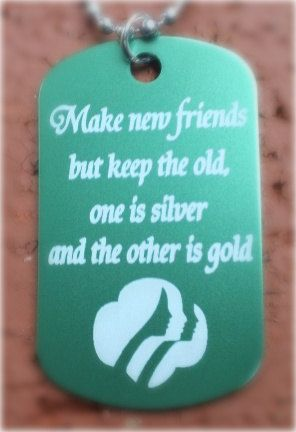 Girl Scouts Make New Friends Personalized Girl Scouts by Laserbird, $5.50
