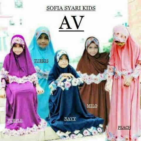 Sofia syari kids @89rb Bhn jersey serena+bergo pad renda,  fit 6-9thn, bebas pilih 5wrn, minim 2pcs Close 13 maret, ready 6mgg ¤ Order By : BB : 2951A21E CALL : 081234284739 SMS : 082245025275 WA : 089662165803 ¤ Check Collection ¤ FB : Vanice Cloething Twitter : @VaniceCloething Instagram : Vanice Cloe