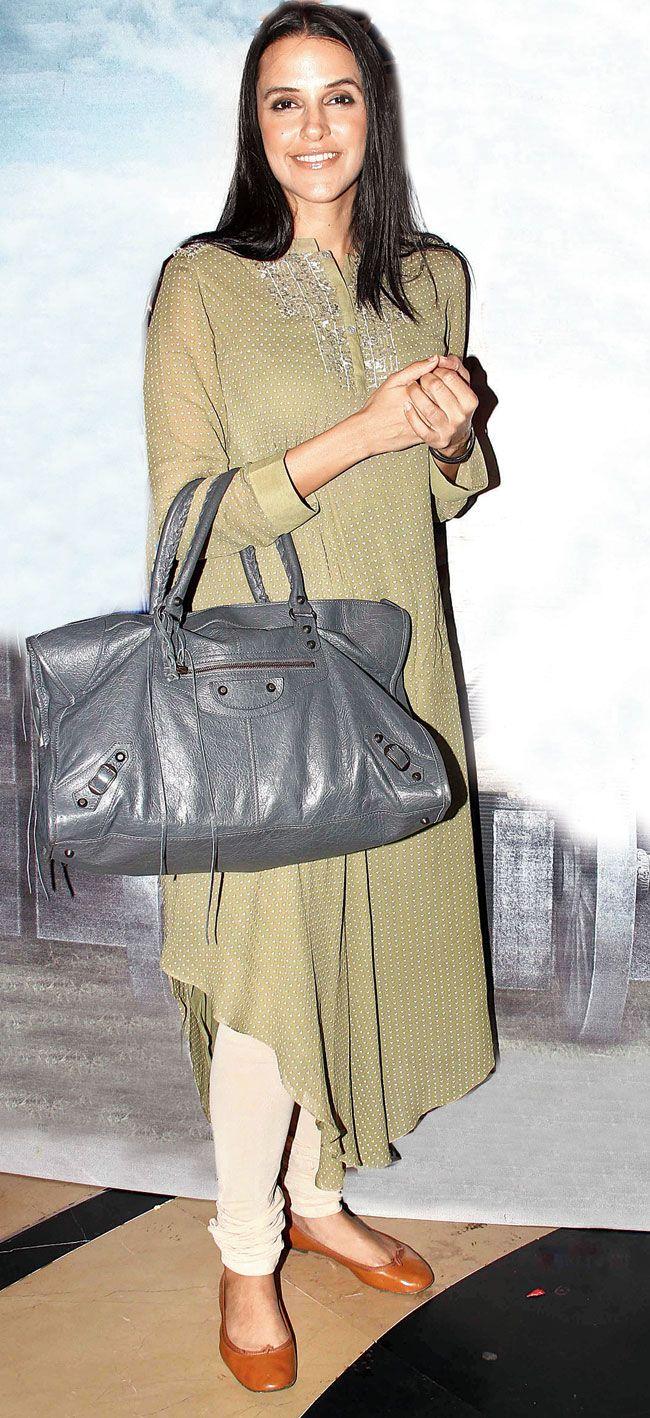 Neha Dhupia at special screening of 'Ekkees Toppon Ki Salaami'. #Bollywood #Fashion #Style #Beauty