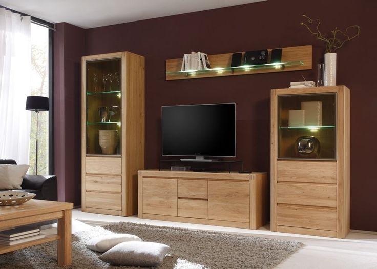 ber ideen zu wohnwand massiv auf pinterest. Black Bedroom Furniture Sets. Home Design Ideas