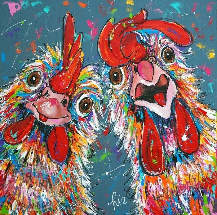 17 best ideas about chicken art on pinterest roosters for Schilderij poster