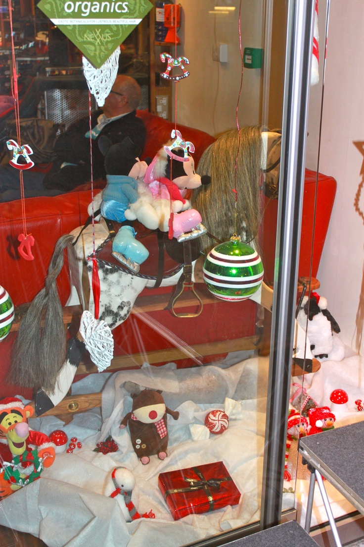 The Toy Shop Xmas window display.
