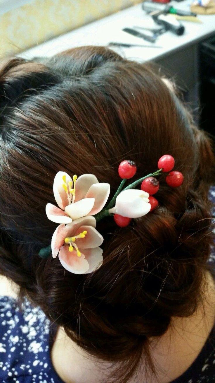 #роза #орск #шпилька #прическа #ручнаяработа #цветывприческу #цветы #свадьба