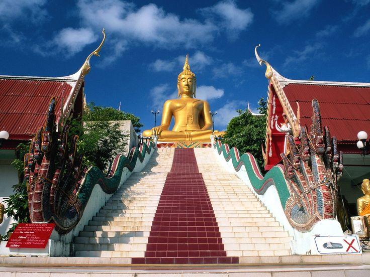 Buddha statue at a resort in Pattaya, Thailand
