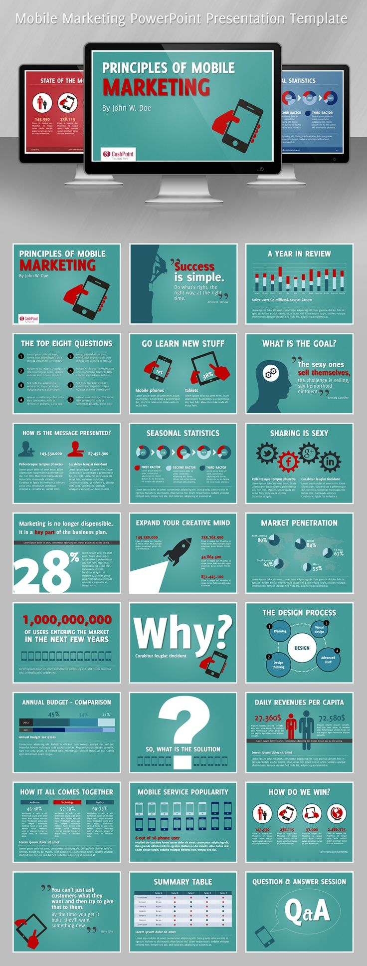8 best presentation inspiration images on pinterest | charts, Modern powerpoint