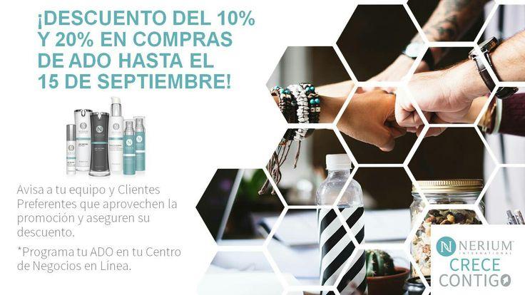 Nerium Colombia: ¡Extendimos nuestro descuento de ADO hasta el 15 de septiembre, aprovéchalo al máximo con tus clientes! Conoce más aquí: http://dozz.es/raeav  Adquiere los productos en monicaespejo.nerium.com  Obtén el mejor precio registrándote como cliente preferente y programando tu autoenvío.  MÓNICA MARÍA ESPEJO PÉREZ REPRESENTANTE DE MARCA NERIUM INTERNATIONAL  Cel/WhatsApp: 305 241 76 42 monicaespejo.nerium@gmail.com Instagram: @monicaespejo.nerium Facebook: La juventud en una…